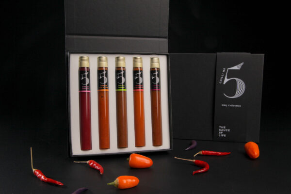 Chilli No. 5 - Healthy Hot Sauce - Gift Set Kitchen Collection