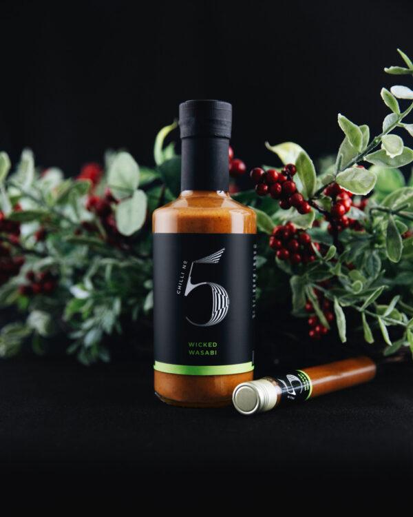 Chilli No. 5 - Wicked Wasabi Bottle - Wasabi Hot Sauce