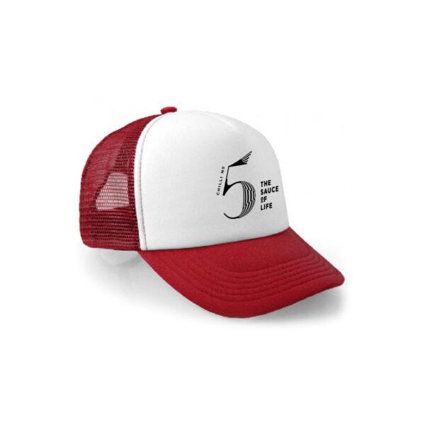 CHilli No. 5 red trucker cap