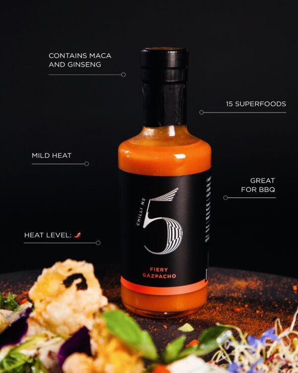 Fiery Gazpacho - Tomato Hot Chilli Sauce & Bloody Mary Mix