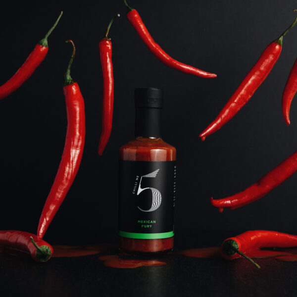Mexican Fury Gesunde mexikanische Gourmet-Scharf-Chili-Sauce - Chili Nr. 5