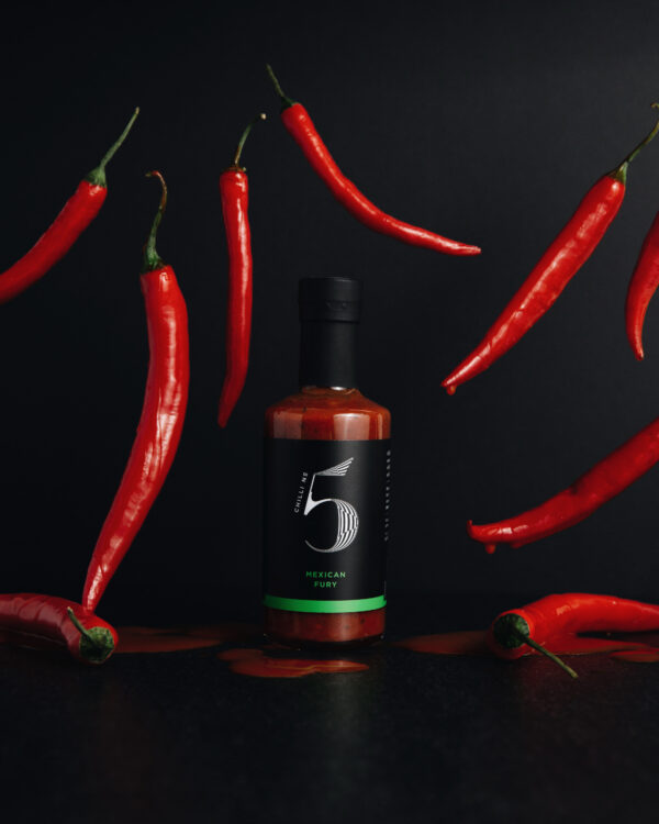 Mexican Fury Healthy Mexican Gourmet Hot Chilli Sauce - Chilli No. 5