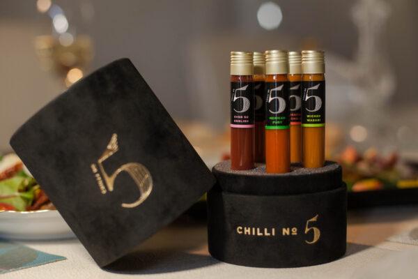 Chilli No. 5 - Hot Healthy Gourmet Chilli Sauce Gift Set - Celebration