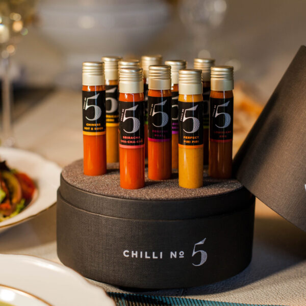 The Dining Collection - Hot Sauce Gift Set - Gift Set for Hot Sauce Lovers - Chilli No. 5