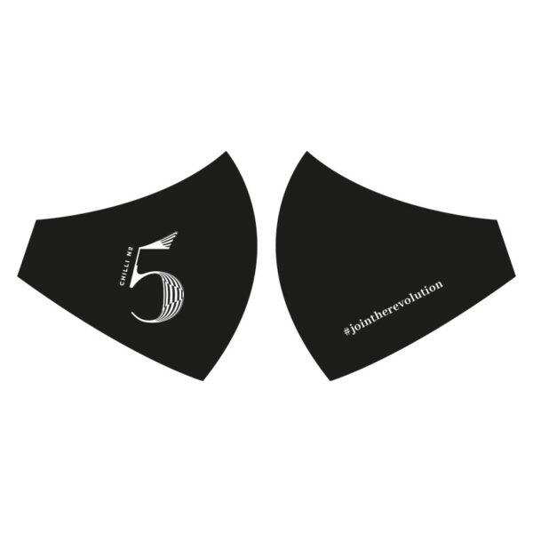 Chili Nr. 5 schwarze Gesichtsmaske.