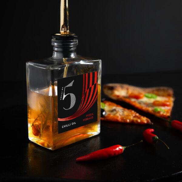 Pizza Pizzazz - Spicy Pizza Chilli Oil - Hot Gourmet Chilli Oil - Chilli No. 5
