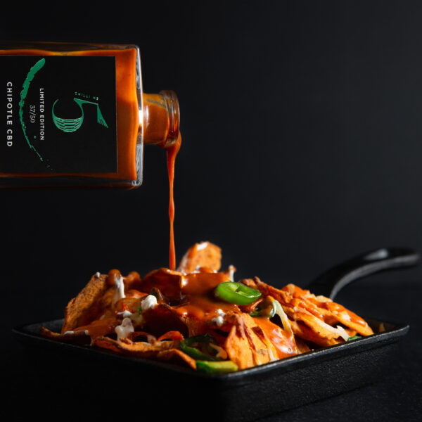 Chill Nr. 5 - Gesunde vegane scharfe Sauce - Chipotle CBD