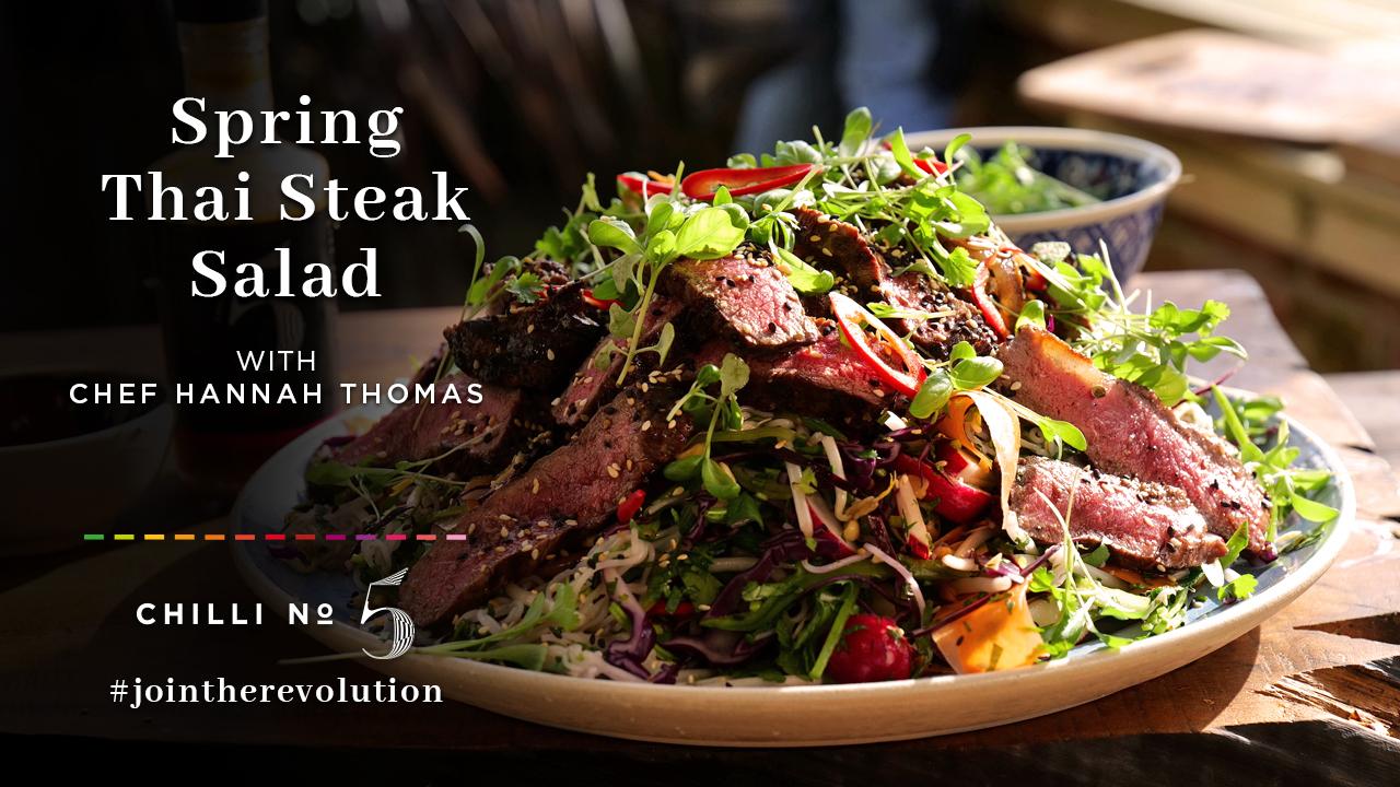 Chilli No. 5 - Superfood Mondays - Healthy Hot Vegan Sauce - Thai Steak Salad