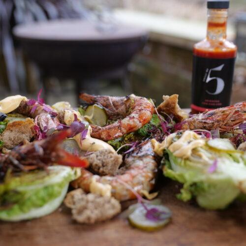 Chilli No. 5 - Superfood Mondays - Healthy Hot Vegan Sauce - BBQ Prawn Cocktail Platter